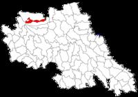 Pozitia orasului Hârlău in cadrul judetului Iași