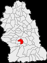 Pozitia orasului Hațeg in cadrul judetului Hunedoara
