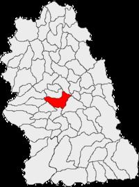 Pozitia orasului Hunedoara in cadrul judetului Hunedoara