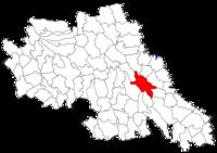 Pozitia orasului Iași in cadrul judetului Iași