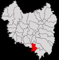 Pozitia orasului Întorsura Buzăului in cadrul judetului Covasna