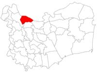 Pozitia orasului Isaccea in cadrul judetului Tulcea