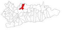 Pozitia orasului Lehliu Gară in cadrul judetului Călărași