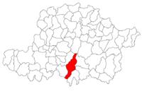 Pozitia orasului Lipova in cadrul judetului Arad