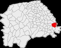 Pozitia orasului Liteni in cadrul judetului Suceava