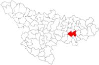 Pozitia orasului Lugoj in cadrul judetului Timiș