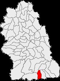 Pozitia orasului Lupeni in cadrul judetului Hunedoara