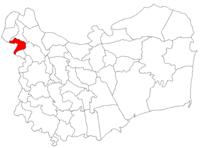 Pozitia orasului Măcin in cadrul judetului Tulcea