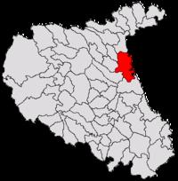 Pozitia orasului Mărășești in cadrul judetului Vrancea