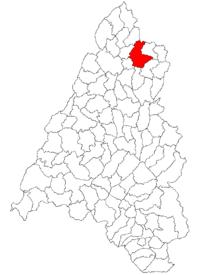 Pozitia orasului Marghita in cadrul judetului Bihor