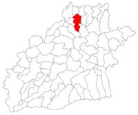 Pozitia orasului Mediaș in cadrul judetului Sibiu