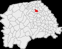 Pozitia orasului Milișăuți in cadrul judetului Suceava