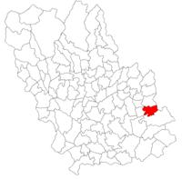 Pozitia orasului Mizil in cadrul judetului Prahova