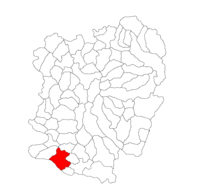 Pozitia orasului Moldova Nouă in cadrul judetului Caraș-Severin