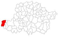 Pozitia orasului Nădlac in cadrul judetului Arad