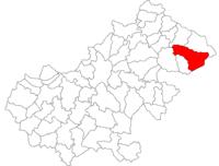 Pozitia orasului Negrești-Oaș in cadrul judetului Satu Mare