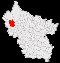 Pozitia orasului Nehoiu in cadrul judetului Buzău