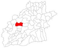 Pozitia orasului Ocna Sibiului in cadrul judetului Sibiu