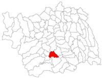 Pozitia orasului Onești in cadrul judetului Bacău