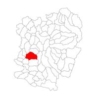 Pozitia orasului Oravița in cadrul judetului Caraș-Severin
