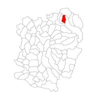 Pozitia orasului Oțelu Roșu in cadrul judetului Caraș-Severin