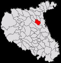 Pozitia orasului Panciu in cadrul judetului Vrancea