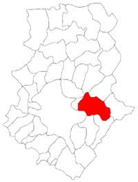 Pozitia orasului Pantelimon in cadrul judetului Ilfov