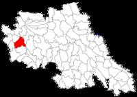 Pozitia orasului Pașcani in cadrul judetului Iași