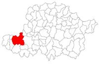 Pozitia orasului Pecica in cadrul judetului Arad