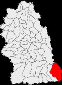 Pozitia orasului Petrila in cadrul judetului Hunedoara