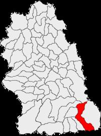Pozitia orasului Petroșani in cadrul judetului Hunedoara