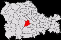 Pozitia orasului Piatra Neamț in cadrul judetului Neamț