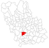 Pozitia orasului Ploiești in cadrul judetului Prahova