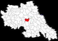 Pozitia orasului Podu Iloaiei in cadrul judetului Iași