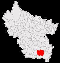 Pozitia orasului Pogoanele in cadrul judetului Buzău