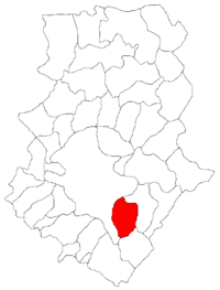 Pozitia orasului Popești-Leordeni in cadrul judetului Ilfov