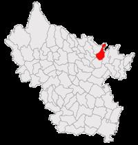 Pozitia orasului Râmnicu Sărat in cadrul judetului Buzău