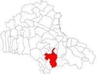 Pozitia orasului Râșnov in cadrul judetului Brașov