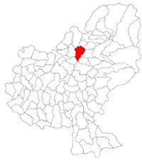 Pozitia orasului Reghin in cadrul judetului Mureș