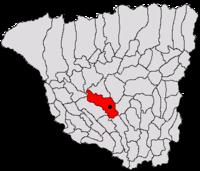 Pozitia orasului Rovinari in cadrul judetului Gorj