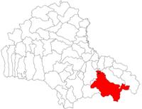 Pozitia orasului Săcele in cadrul judetului Brașov