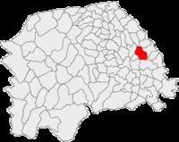 Pozitia orasului Salcea in cadrul judetului Suceava