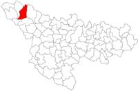 Pozitia orasului Sânnicolau Mare in cadrul judetului Timiș