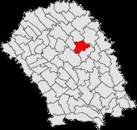 Pozitia orasului Săveni in cadrul judetului Botoșani