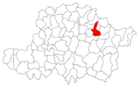 Pozitia orasului Sebiș in cadrul judetului Arad