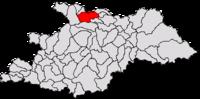 Pozitia orasului Sighetu Marmației in cadrul judetului Maramureș