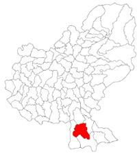 Pozitia orasului Sighișoara in cadrul judetului Mureș