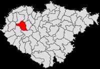 Pozitia orasului Șimleu Silvaniei in cadrul judetului Sălaj