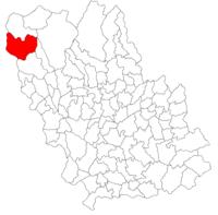 Pozitia orasului Sinaia in cadrul judetului Prahova