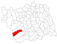 Pozitia orasului Slănic-Moldova in cadrul judetului Bacău